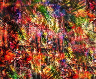 Viva La Colour!. Vibrant colors and wild details abound in this computer generated abstract artwork royalty free illustration