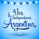 Viva la independencia Argentina, Long live Argentina independence spanish text, Argentinian theme. Patriotic celebration vector lettering - eps available Stock Photography