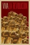Viva La Revolucion - poder aos povos ilustração royalty free
