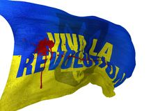 Viva La Revolution Flag Stock Photography