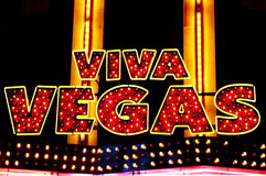 Viva Las Vegas. A classic sign of a Las Vegas sign Stock Photography