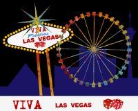 Viva Las Vegas illustration stock