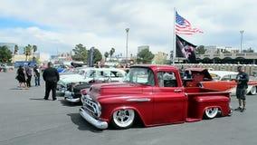 Vintage Car Viva Las Vegas Las Vegas USA Stock Video - Vegas rockabilly car show