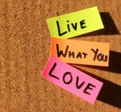 ¡Viva lo que usted ama! Imagenes de archivo