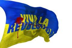 Viva losu angeles rewoluci flaga ilustracja wektor