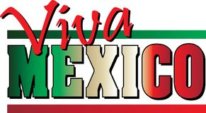 Viva Mexico! Banner Royalty-vrije Stock Foto