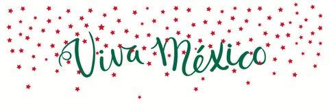 Viva Mexico-banner royalty-vrije illustratie