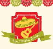 Viva Mexico - cartolina d'auguri Fotografia Stock Libera da Diritti