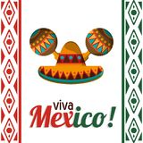 Viva mexico celebration heritage card. Vector illustration eps 10 Royalty Free Stock Photo