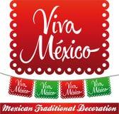 Viva Mexico - décoration mexicaine de vecteur de vacances illustration libre de droits
