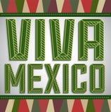 Viva Mexico - feriado mexicano Fotos de Stock