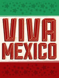 Viva Mexico - feriado mexicano Imagem de Stock