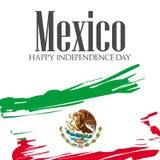 Viva Mexico, feriado mexicano tradicional da frase ilustração stock