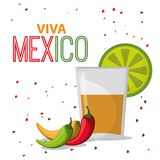 Viva mexico greeting drink confetti. Vector illustration eps 10 Stock Photos