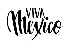 Viva Mexico. Hand drawn lettering phrase isolated on white background. Design element for advertising, poster, announcement, invit Stock Photography