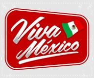 Viva Mexico - het Mexicaanse vakantie van letters voorzien Stock Afbeelding