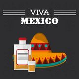 Viva mexico hispanic event poster. Vector illustration eps 10 stock illustration