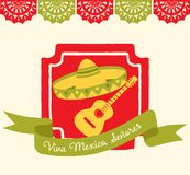 Viva Mexico - hälsningkort Royaltyfri Fotografi