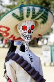 Viva mexico II. Skull with sombrero as part of the celebration of the day of the dead in mexico city Stock Image