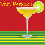 Viva Mexico! Margarita. Card in vector format Stock Photos