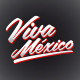 Viva Mexico - mexican holiday lettering - icon emblem Stock Photos