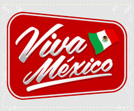 Viva Mexico - mexican holiday lettering Stock Image
