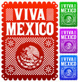 Viva Mexico - Mexican Holiday Vector Decoration Stock Photography