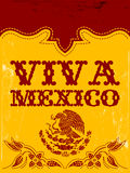 Viva Mexico - mexican holiday poster. Vintage Mexico - mexican vector poster - western style Royalty Free Stock Images