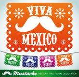Viva Mexico - mexican mustache holiday Royalty Free Stock Photo