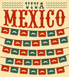 Viva Mexico - mexican mustache holiday Royalty Free Stock Photography