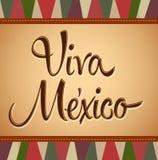Viva Mexico - mexicano Deco del vintage stock de ilustración