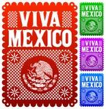 Viva Mexico - mexikansk ferievektorgarnering vektor illustrationer