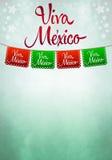 Viva Mexico plakat - meksykanin papierowa dekoracja Zdjęcie Stock