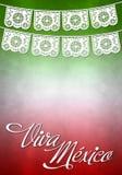 Viva Mexico plakat - meksykanin papierowa dekoracja Zdjęcie Royalty Free