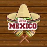 Viva mexico poster icon Stock Image