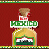 Viva mexico poster icon Royalty Free Stock Photos
