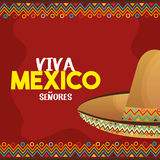 Viva mexico poster icon Stock Photo