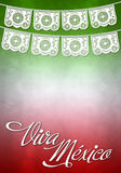 Viva mexico poster - mexican paper decoration stock illustration