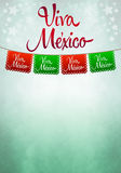 Viva mexico poster - mexican paper decoration. Copyspace Stock Photo