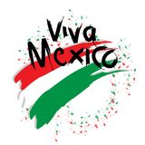 Viva Mexico, royalty free illustration