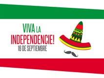 Viva Mexico, traditionele Mexicaanse uitdrukkingsvakantie royalty-vrije illustratie