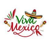 Viva Mexico vector backgorund. Viva Mexico cinco de mayo, traditional mexican phrase holiday, lettering vector illustration stock photography