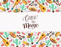 Viva Mexiko affisch vektor illustrationer