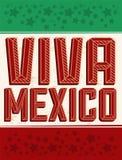 Viva Mexiko - mexikanischer Feiertag Stockbild