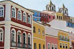 Viva Pelourinho. Colorful houses of Pelourinho in Salvador da Bahia Stock Photography
