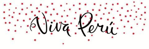 Viva Peru banner vector illustration