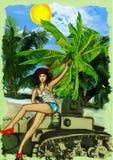 Viva revolution ! Hand drawn illustration Royalty Free Stock Image
