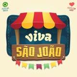 Viva Sao Joao gradu święty John - brazylijczyk Czerwiec Partyjny Cool one Fotografia Royalty Free