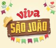 Viva Sao Joao Hail Saint John - Braziliaanse Juni-Koele Partij hen vector illustratie