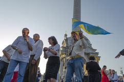 Viva Ukraine Foto de Stock Royalty Free